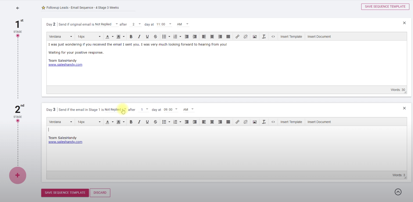 Set up an email drip sequence easily with email automation software.