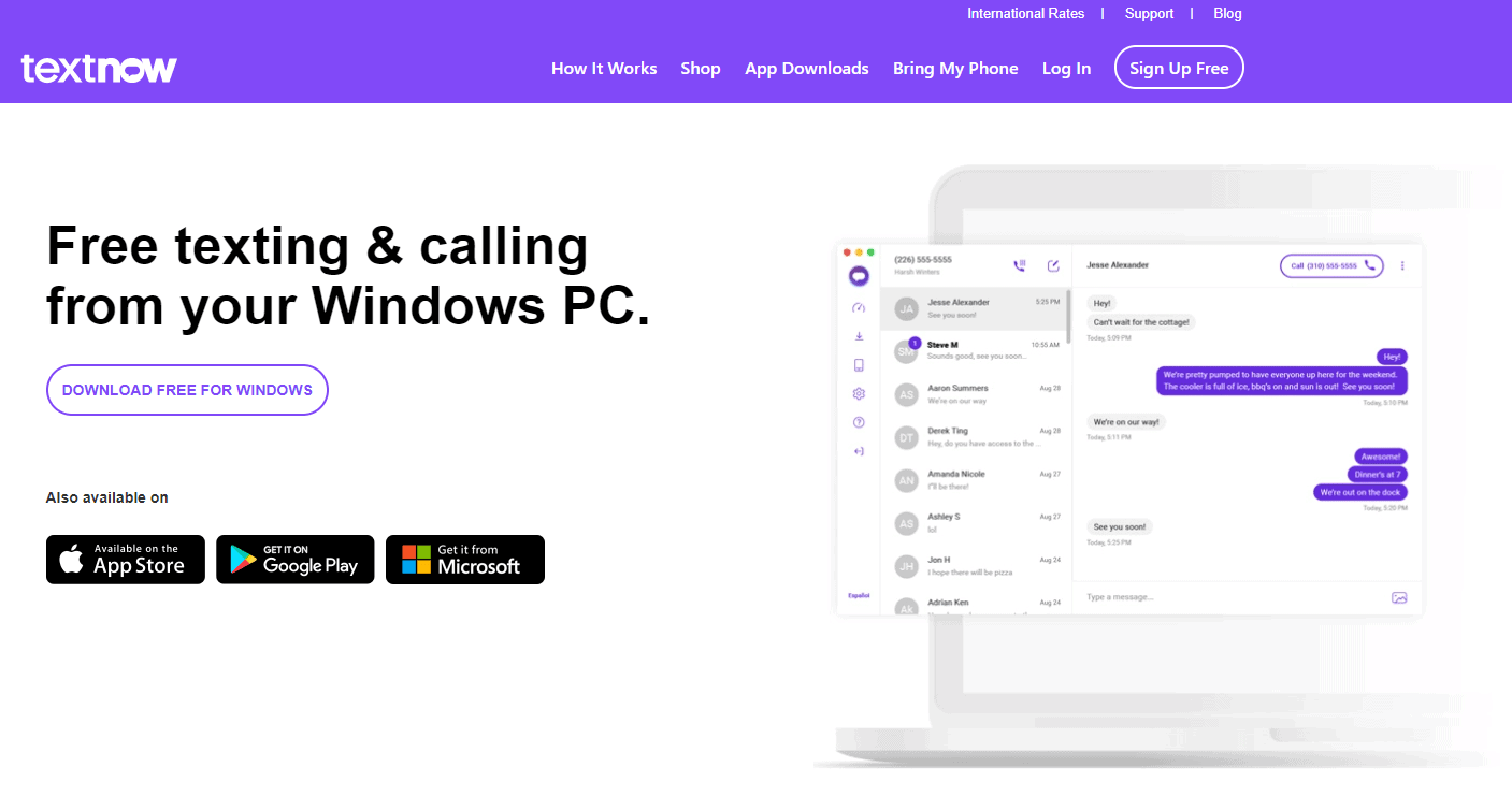 TextNow offers free app to phone calls within the US and Canada with occasional advertisements.