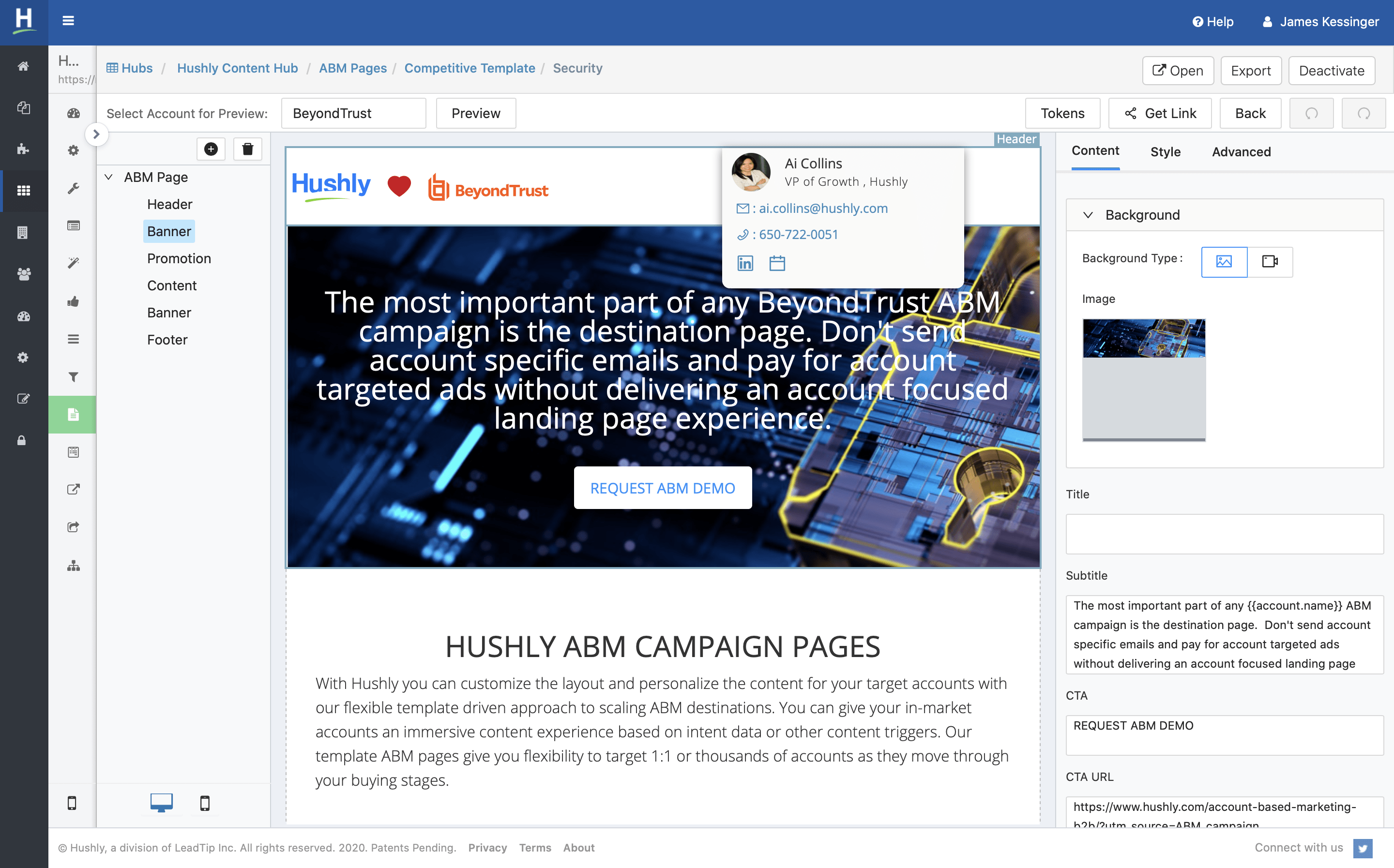 Hushly is an all-in-one content engagement, lead conversion, and lead enrichment platform powered by artificial intelligence (AI).